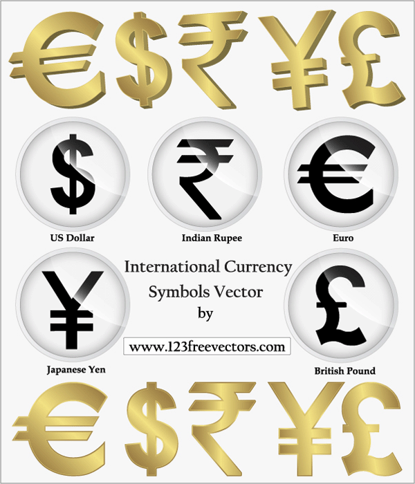 Free International Currency Symbols Psd Files Vectors Graphics