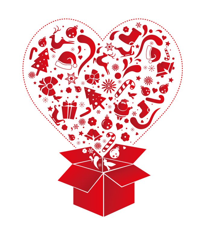 Christmas gift box vector clip art illustration 벡터이미지
