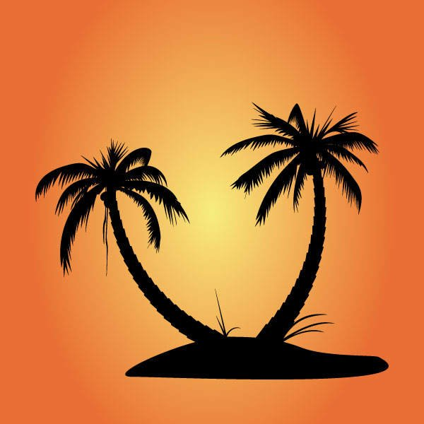 free free vector palm tree silhouettes psd files vectors graphics rh 365psd com  palm tree silhouette vector art free