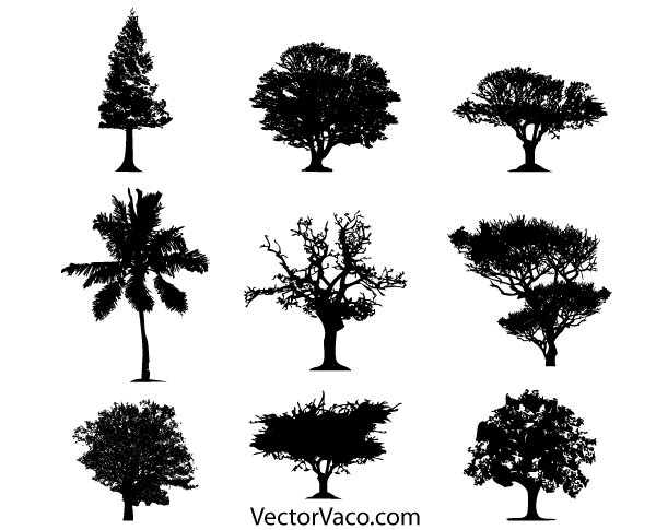 free tree silhouette vector free download psd files vectors rh 365psd com tree silhouette vector png tree silhouette vector download