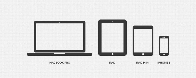 free minimal apple device icons psd files vectors graphics
