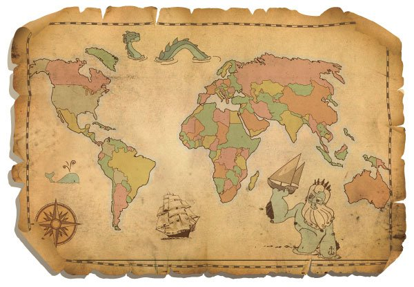 Free Free Antique World Map PSD Files Vectors Graphics PSDcom - Antique world map picture