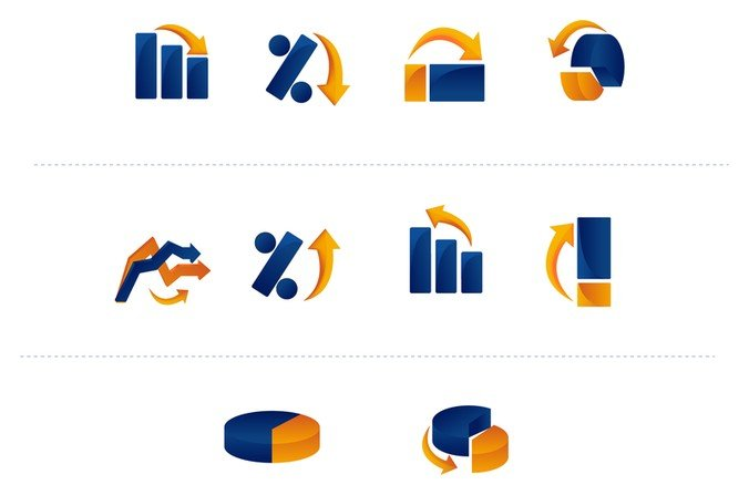 Graph and Chart Icons