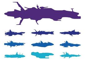 Spaceships Silhouettes Pack