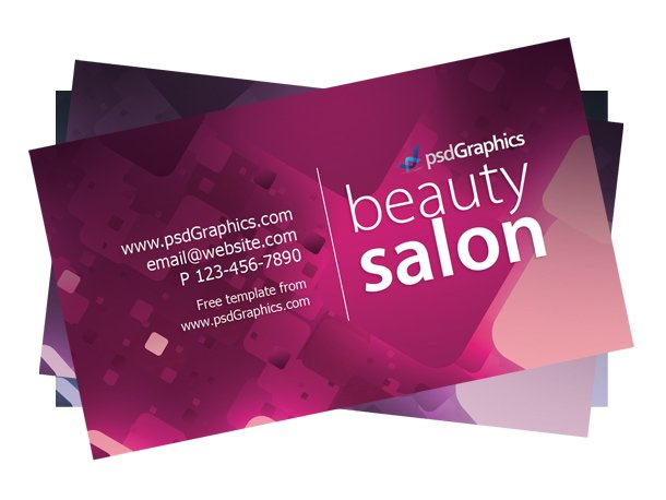 Graphismes Vectoriels Et Fichiers PSD Beauty Salon Business Card