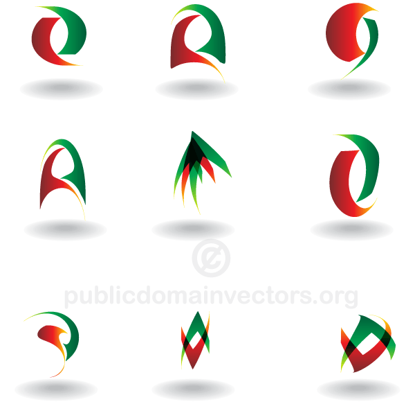 Vector Abstract Logo Design Elements Fichiers Vectoriels