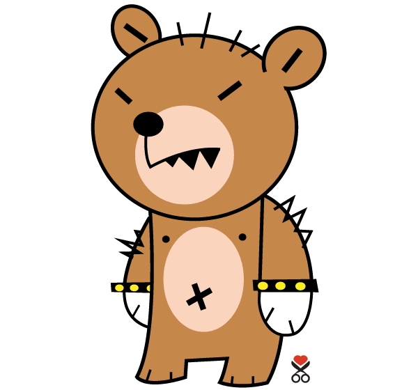 Cartoon Character Design Vector : Cute bear cartoon character vector graphics psd