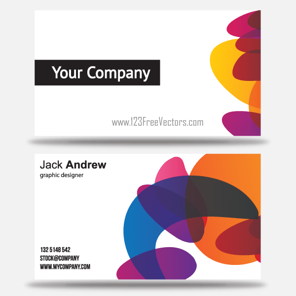 free colorful business card templates vector. Black Bedroom Furniture Sets. Home Design Ideas