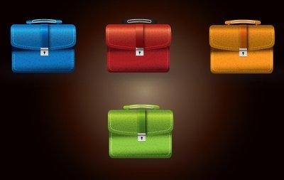 Secured Briefcase Stylish Icon