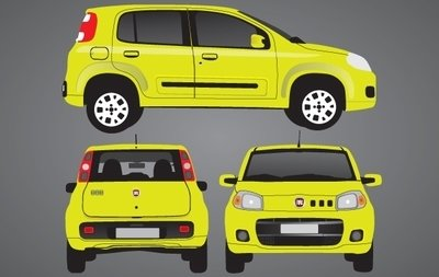 Yellow Novo Uno Car Set