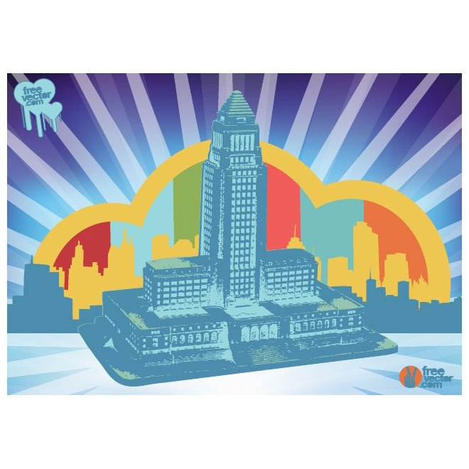 LA CITY HALL VECTOR IMAGE.ai