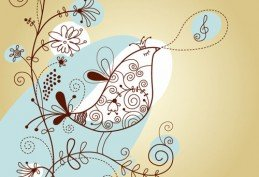 Singing Bird with Floral