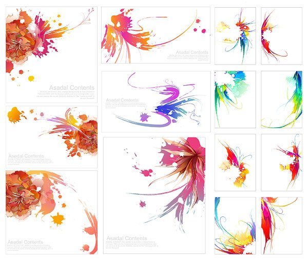 Colorful ink effect of