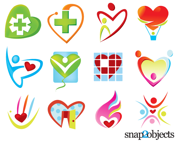 free free vector heart shaped logo templates psd files vectors rh 365psd com vector logos free download vector logo free wifi