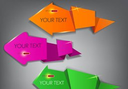 Colorful arrow stickers, labels and tags