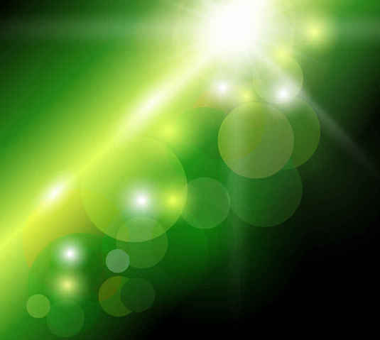 Free Abstract Green Bokeh Background