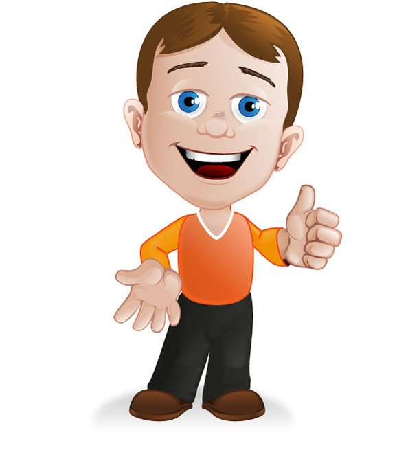 A Z Cartoon Characters : Boy cartoon character vector file psd
