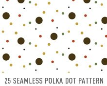 25 Seamless Polka Dot Pattern Swatches