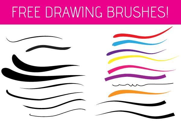 Free illustrator drawing brushes vector graphic psd