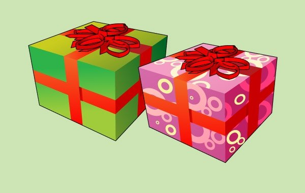 Two cartoon christmas gift box vector images 365psd negle Gallery