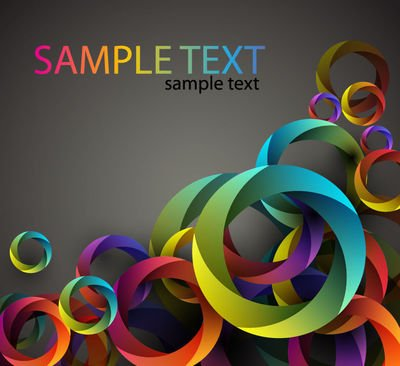 Abstract Cubic Circles Colorful Background