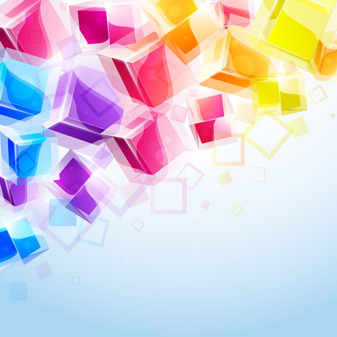 3d abstract cubes background - photo #18