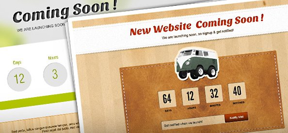 Coming Soon Page PSD Set