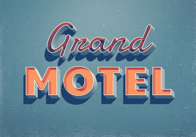 Grand Motel Text Effect