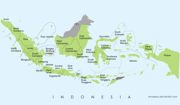 Free Vector Map of Indonesia vector images 365PSDcom