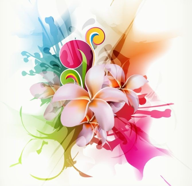 Free Flower Background Design Element PSD Files, Vectors