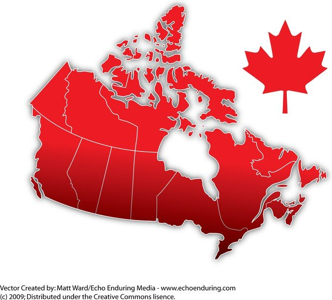 Canada Day Vector Map