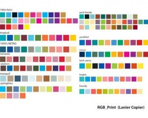 Stock Ilustrations RGB Colour Chart