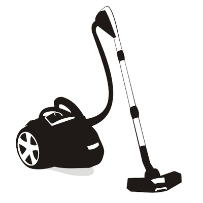 Silhouette Black & White Vacuum Cleaner, Vector - 365PSD.com Vacuum Clipart Black And White