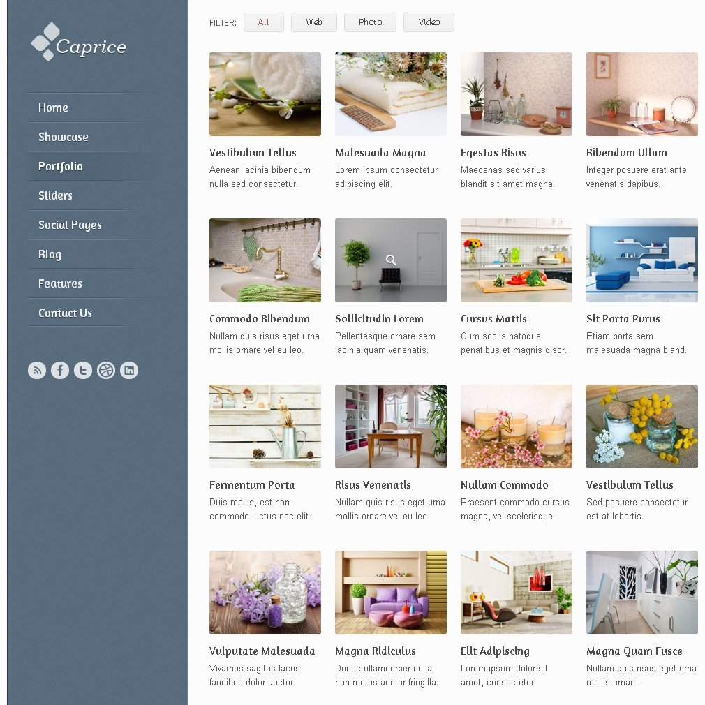 Free Caprice Free Homepage Blog PSD Template PSD files, vectors ...