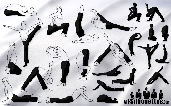 24 Yoga vector male