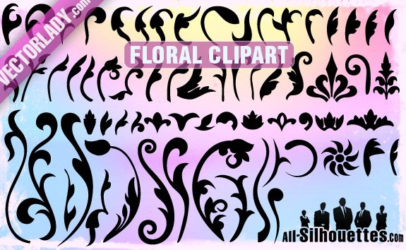 65 Vector Floral Clipart
