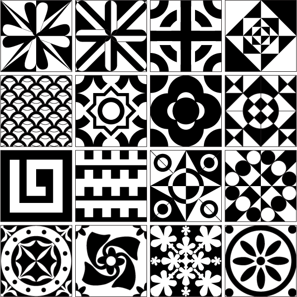 Tile Design Patterns Free Vector Resource Vector