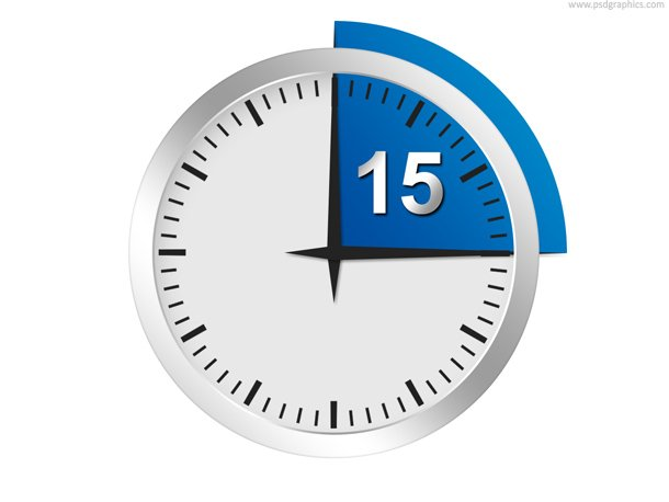 Minutes Or Seconds Timer PSD Template Vector Graphics