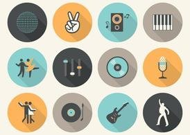 Free Vector Flat Music Icons