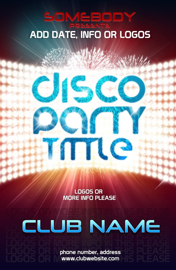 Free PSD Poster Template For Club Event PSD files, vectors