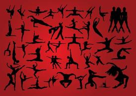 People Dancing Silhouettes