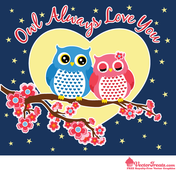 Free Valentine Vectors That Owl Always Love