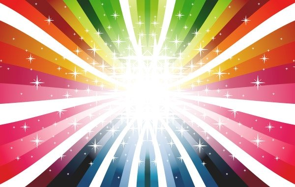 Colorful Rays Vector Colors Colorful Rays