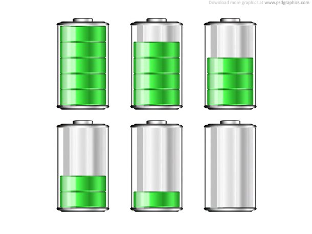 Battery Levels Icons Vector Graphics 365psd Com