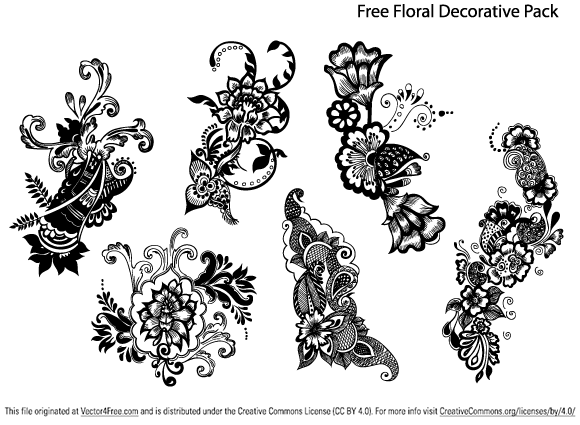 free free floral decorative pack psd files vectors graphics