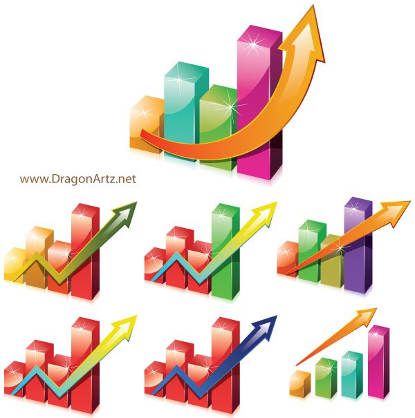 Charts Clipart with Arrow