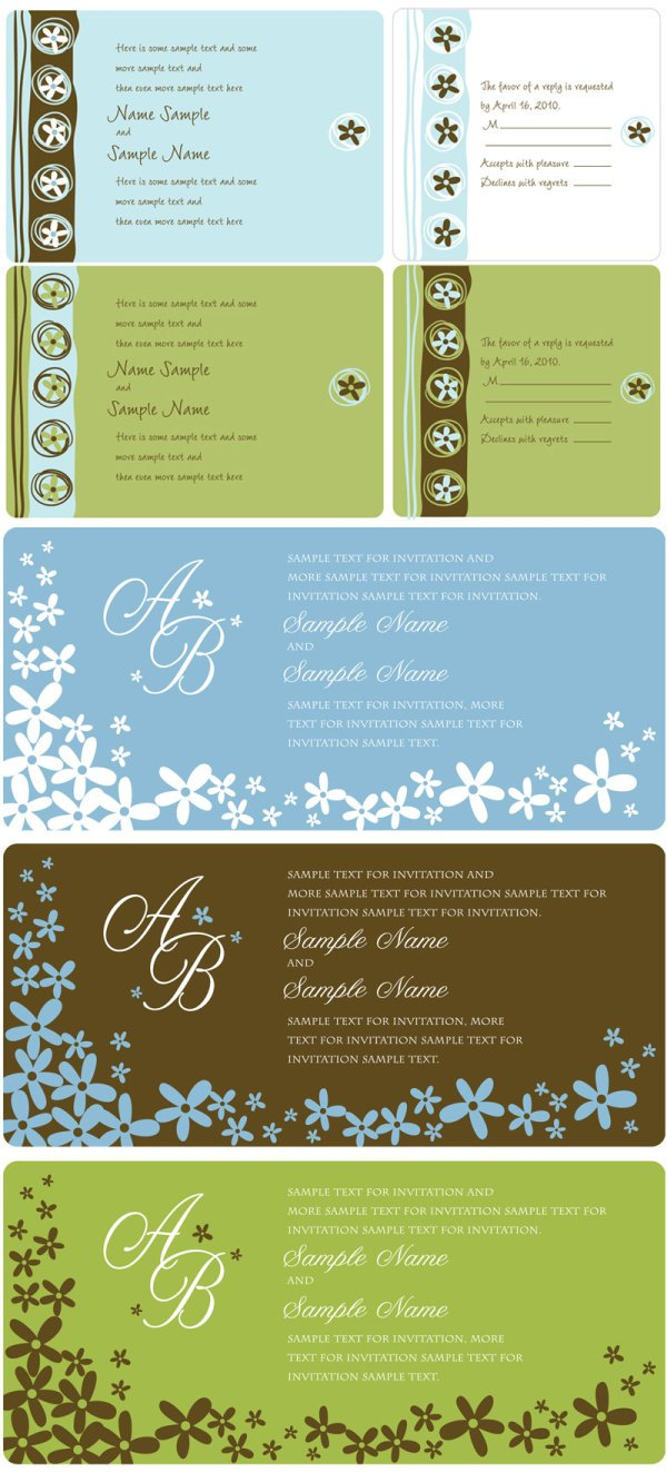 Wedding invitation panel vector file 365psd 1 stopboris Images