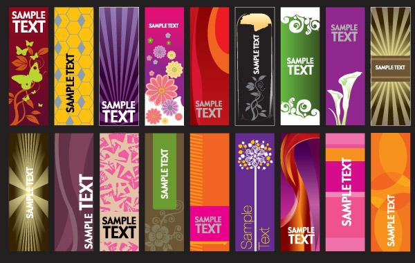 30 Vector Vertical Banner Templates Background Card