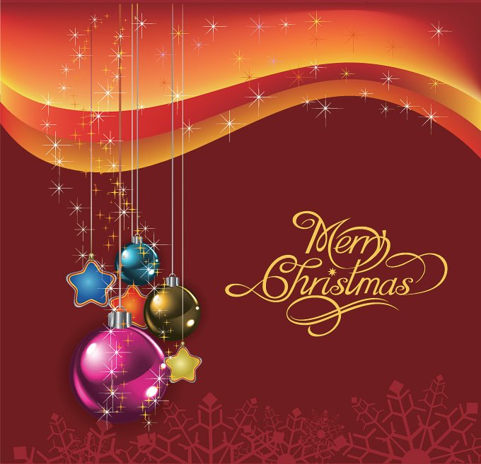 Christmas Balls Vector Background (Free)