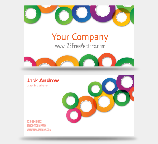 free colorful business card vector templates psd files vectors